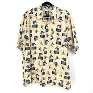 Tabasco XL Button Front Short Sleeve Shirt Fishing
